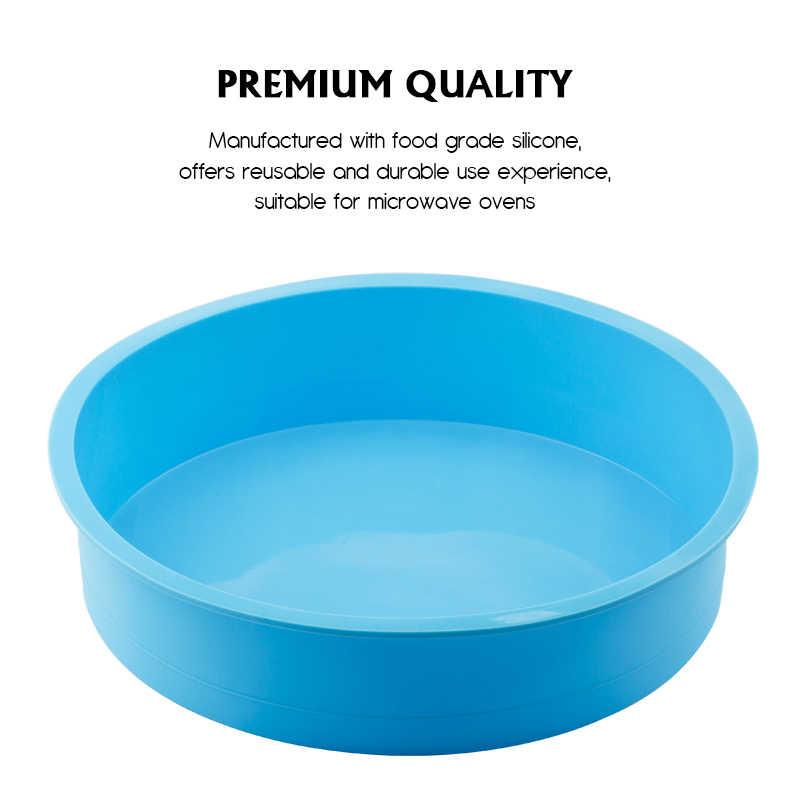Warna Acak Silikon Kue Bentuk Bulat Cetakan Dapur Bakeware Diy Makanan Penutup Cetakan Kue Mousse Kue Cetakan Baking Alat