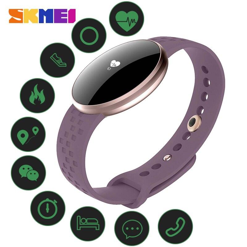 SKMEI Moda Mulheres Smartwatch Rastreador de Calorias Pedômetro Freqüência Cardíaca Esportes Femininos À Prova D' Água relógio de Pulso Das Senhoras Pulseira Inteligente
