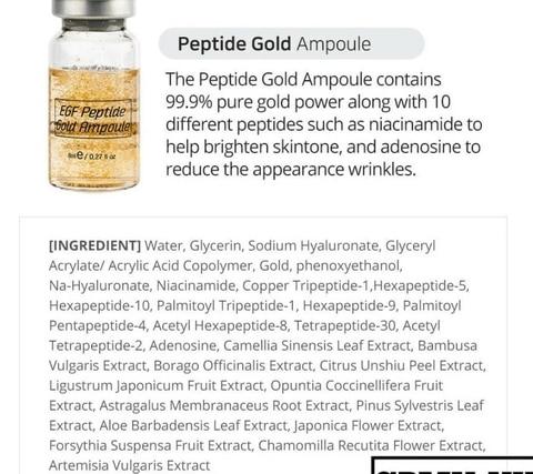 ouro do peptide 12 pces para