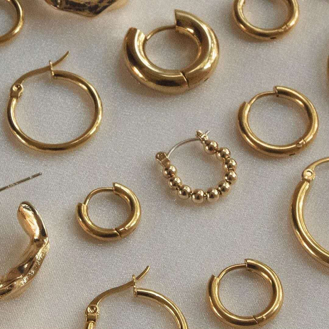 Gold Silver Color Stainless Steel Hoop Earrings for Women Small Simple Round Circle Huggies Ear Rings Steampunk Accessories 1
