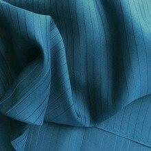 Новое поступление шелковая ткань в полоску жаккардовая шелковая ткань для женщин Рождественский подарок Тяжелая шелковая ткань