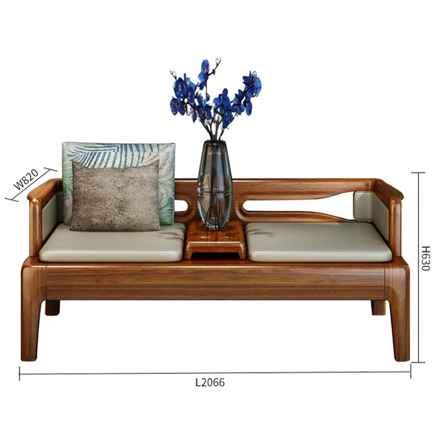 Wood Sofa Set Living Room Furniture