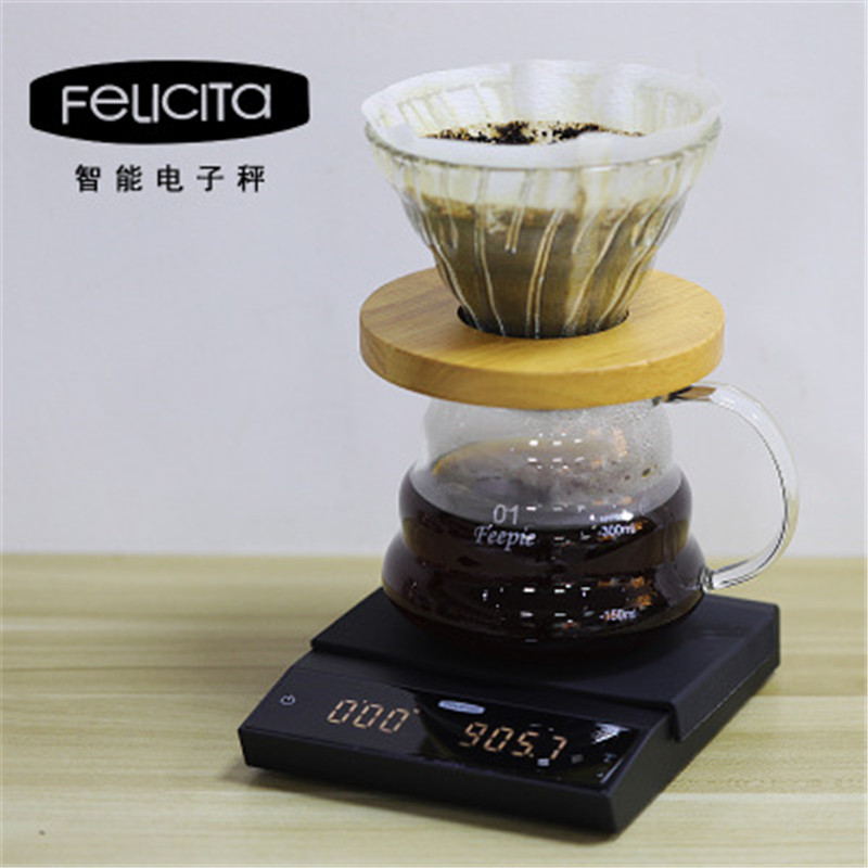 Felicita Coffee Scale With Bluetooth Smart Digital Scale 2KG/0.1g Pour Coffee Household Electronic Drip Coffee Scale With Timer