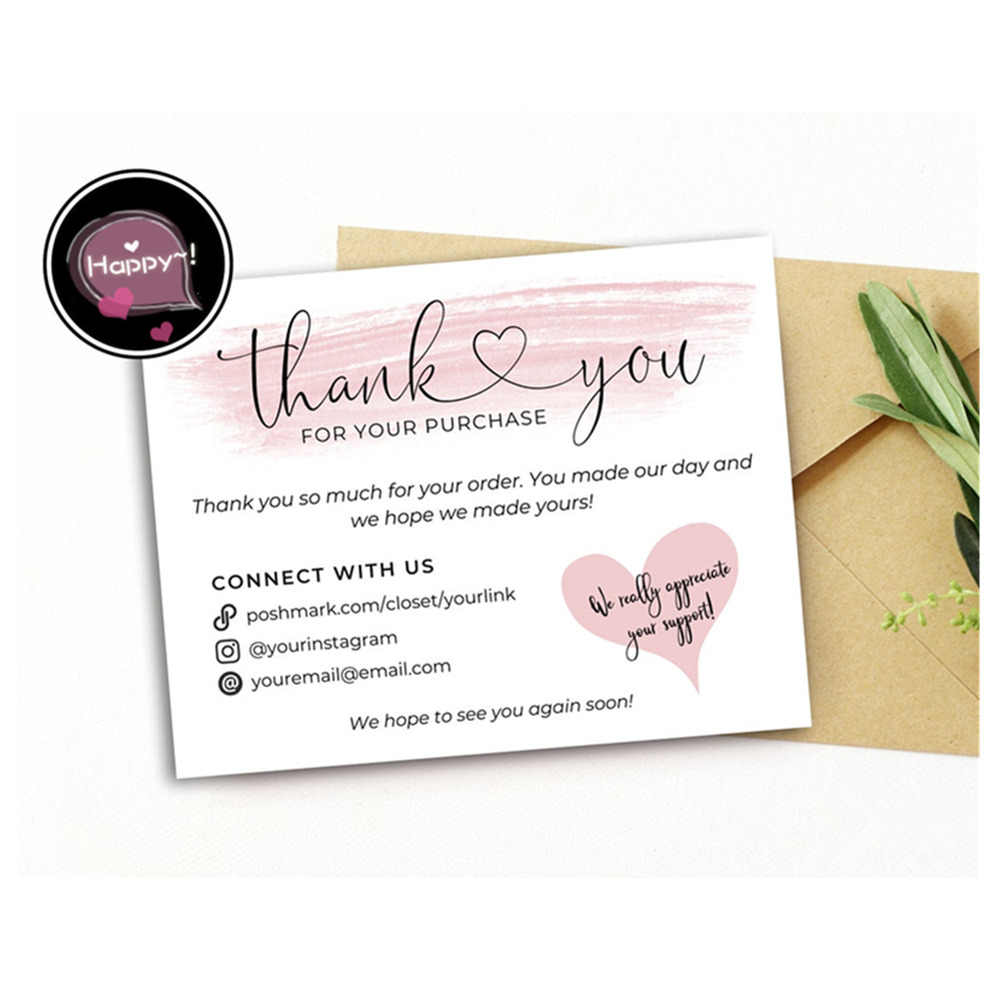 Poshmark Thank You Cards Business Thank You Note Ideas Custom Thank You Card Aliexpress