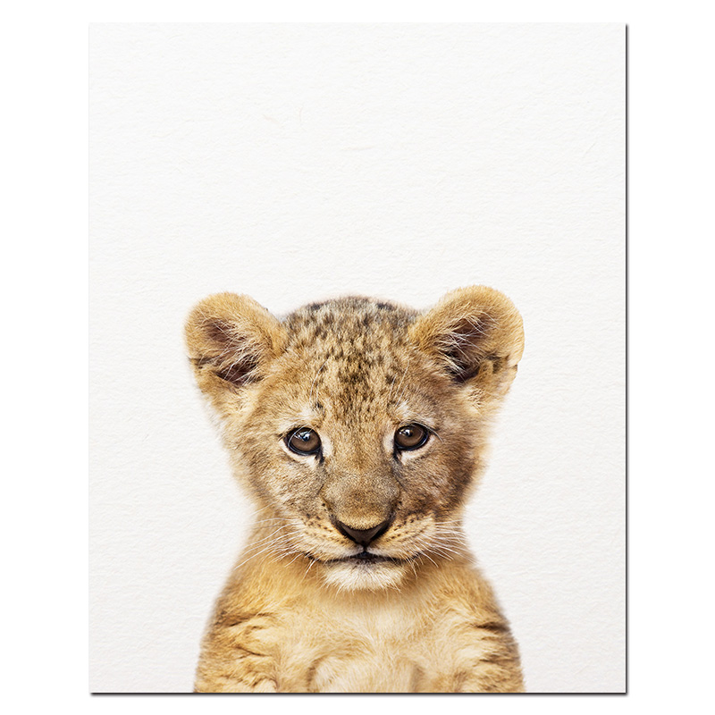 Hb197fc6a8c1b485ea9e36e367807e6c7m Safari Baby Animals Canvas Poster Nursery Lion Tiger Wall Art Print Modern Animal Painting Nordic Kid Bedroom Decoration Picture