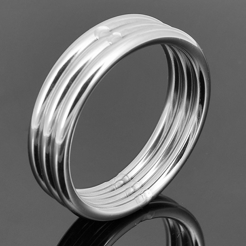 45mm/50mm Stainless Steel Penis Ring Scrotum Bondage Delay Cock Rings Adult <font><b>Sex</b></font> <font><b>Toys</b></font> <font><b>For</b></font> <font><b>Men</b></font> <font><b>Cbt</b></font> Cockring Metal Products image