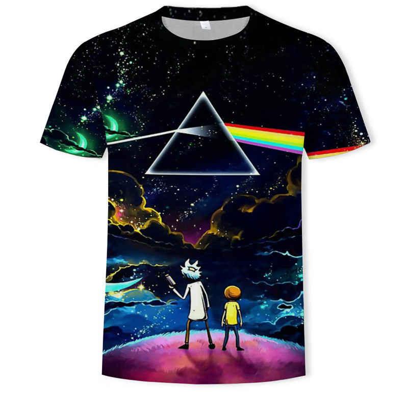 Bırak gemi Rick ve Morty tarafından Jm2 sanat 3D t shirt erkek çocuk gömlek yaz Anime kısa kollu tee sıfır yaka bluzlar karikatür tshirt
