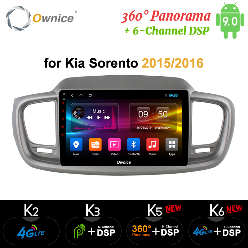 Ownice Octa Core 10.1 Android 9.0 Car DVD Player k3 k5 k6 for Kia Sorento 2015 2016 4G LTE 360 Panorama DSP SPDIF Radio GPS image