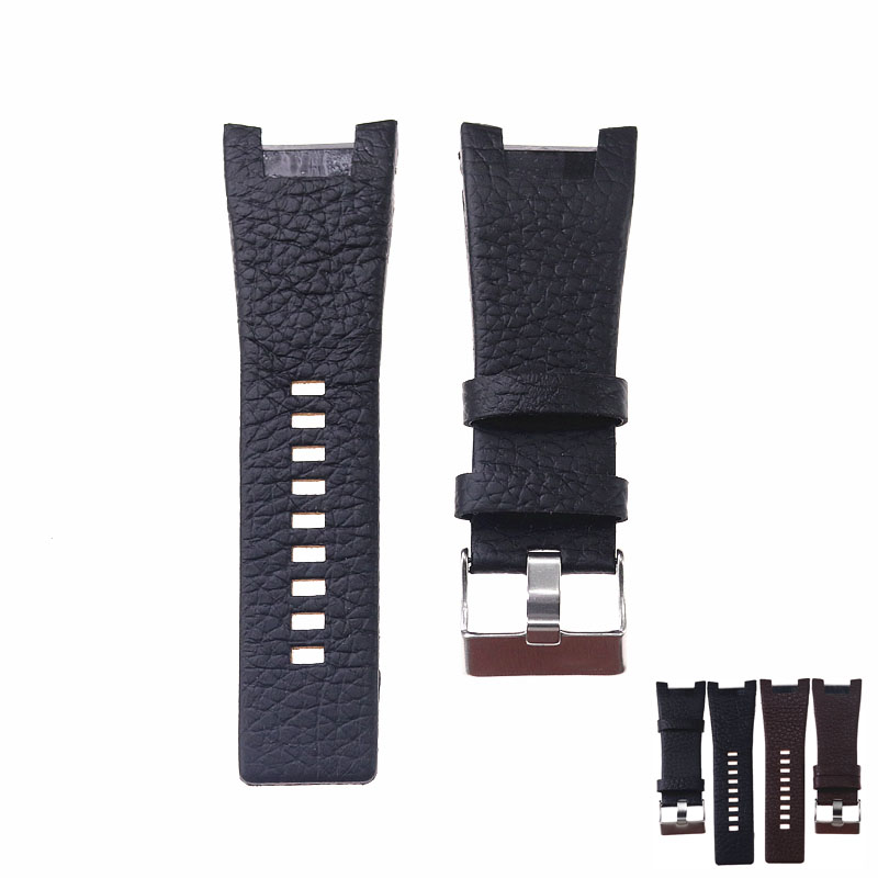 32*17mm lychee real cowhide strap for DIESEL watch with bracelet belt wristband