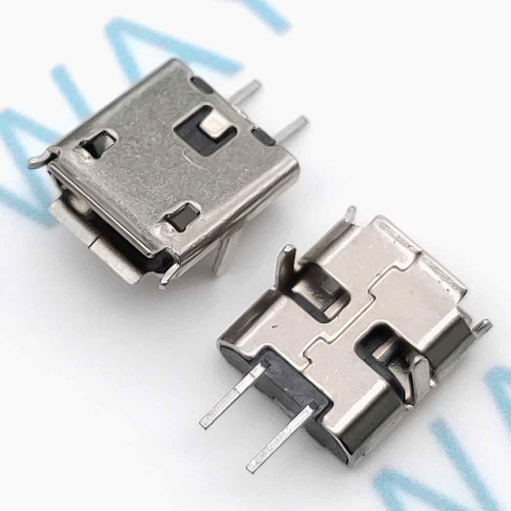 50pcs Micro USB 2pin B type Female Connector For Mobile Phone Micro USB Jack Connector 2 pin Charging Socket