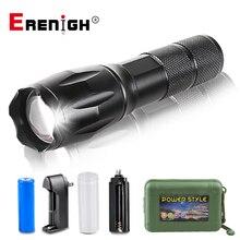 Ультра яркий светодиодный светильник T6 L2 V6, 8000 лм, фонарь, походный светильник, 5 режимов, водонепроницаемый, масштабируемый, велосипедный светильник с батареей AAA 18650