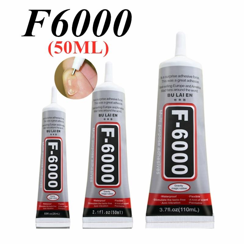 F6000 50ml Liquid Multipurpose Industrial Adhesive DIY Jewelry Crafts Rhinestone Fix Phone Screen Glass Glue Nail Gel DIY Tool(China)