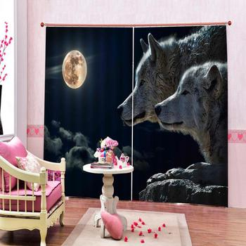 animal curtains Luxury Blackout 3D Window Curtains For Living Room Bedroom Customized size Decoration curtains