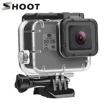 SHOOT GoPro Hero 7 6 5 용 수중 방수 케이스 Go Pro Hero 7 6 액세서리 용 블랙 화이트 실버 보호 하우징 쉘