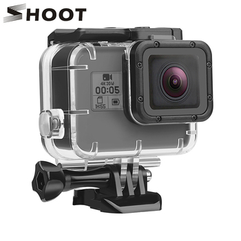 SHOOT Underwater Waterproof Case for GoPro Hero 7 6 5 Black White Silver Protective Housing Shell for Go Pro Hero 7 6 Accessory
