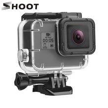 Étui étanche sous marin SHOOT pour GoPro Hero 7 6 5 noir blanc argent boîtier de protection coque pour Go Pro Hero 7 6 accessoire