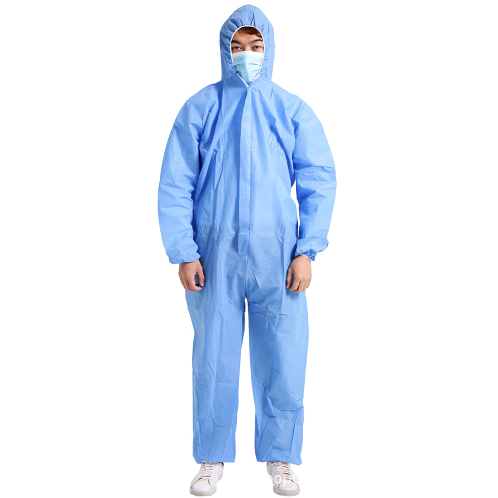 Disposable Medical Suit Protective Hooded Coverall Surgical Painting Spraying Safety Clothing Kombinezon Medyczny