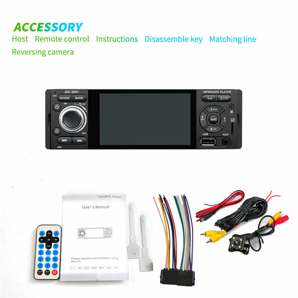 LTBFM Autoradio 1 Din Car Radio JSD-3001 4.1 MP5 Auto Lettore Touch Screen Car Stereo Bluetooth 1Din Auto Macchina Fotografica Della Radio specchio Link
