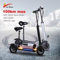 Js 48v26a bateria li ion scooter elétrico 100km 48v500w dobrável pontapé scooter assento skate elétrico patinete elétrico adulto|Scooters elétricos| |  -