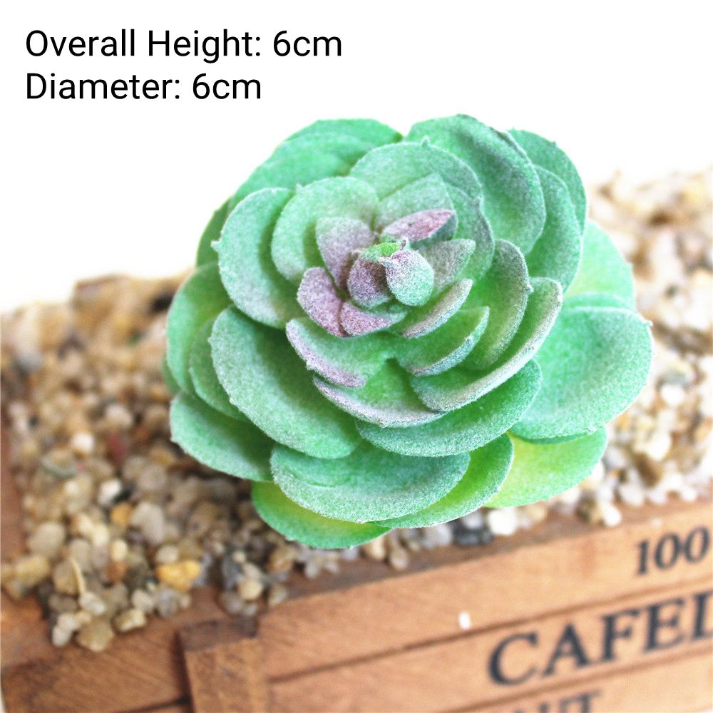 Зеленые флокированные искусственные суккуленты, растения, бонсай для рабочего стола, искусственные растения на День святого Валентина, свадебные украшения, искусственные растения - Цвет: Yuan Xin Mei