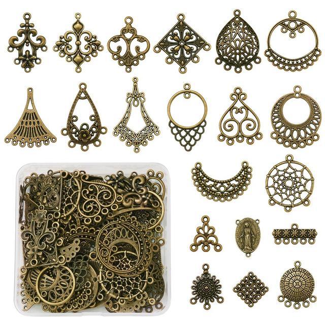10pcs Tibetan Bird Drop Alloy Chandeliers Earring Findings Antique Silver 36mm