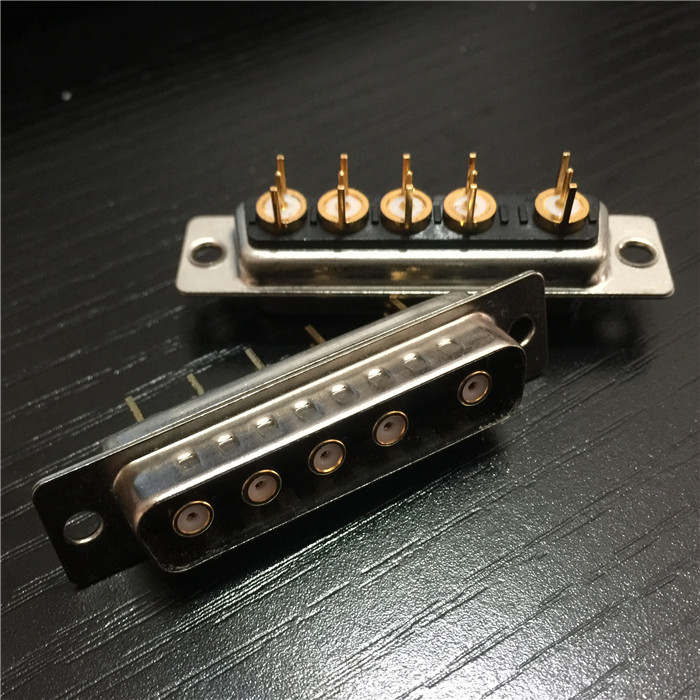 5W5 Male High Current Coaxial D-SUB Connector RF Coaxial D-SUB 5W5 Male Connector