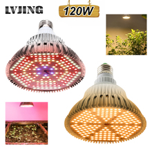 LVJING LED Grow light 100W 120W Full Spectrum Fitolamp Hydroponics Phyto Lamp For Indoor Vegs Flower Seedlings Plants Lighting