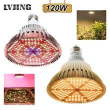 LVJING lampe horticole de croissance, LED/100W, spectre complet, éclairage pour culture hydroponique, plantes, végétation intérieure, semis/floraison