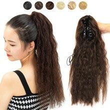 MRSHAIR реальные волосы конский хвост зажим для волос длиной 60 см шиньон конский хвост из натуральных волос Пряди человеческих волос для наращ...