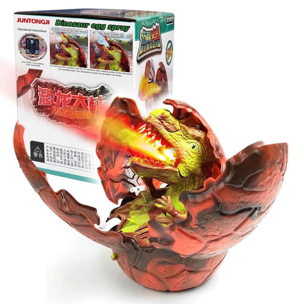 Dinosaur Toys Voice Control Light Simulation Christmas Toys Calling Magic Hatching Spray Dinosaur Egg