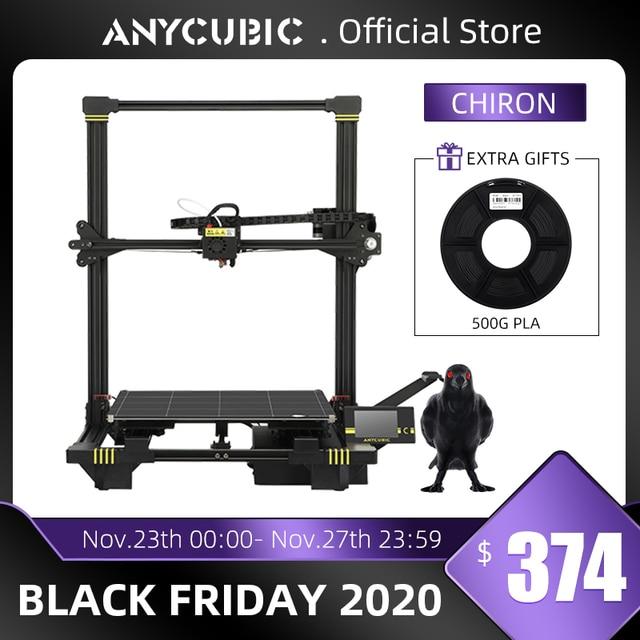 ANYCUBIC Chiron stampante 3D TFT fai da te autolivellante stampanti 3D impresora estrusore doppio asse Z Impressora Kit di stampa 3D Drucker