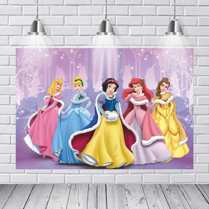 Fotografie Achtergronden Mooie Prinses Sneeuwwitje Belle Cinderella Sparkle Stars Starry Custom Foto Achtergrond Vinyl