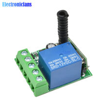 Módulo de interruptor de relé inalámbrico, 433MHz, 315MHz, CC, 12V, 1 canal, RF, Control remoto, módulo receptor