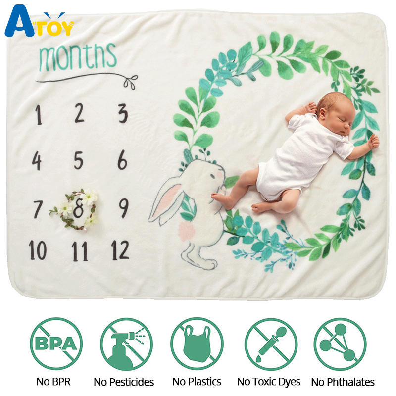 Baby Souvenirs Blanket Baby Milestone Blanket Photography Props Newborn Baby Blankets 0-12 Monthly Mat