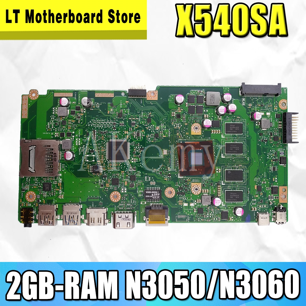 NEW X540SA mainboard REV 2.0 For ASUS X540 X540S X540SA X540SAA laptop motherboard Test ok 2GB-RAM N3050/N3060 CPU image