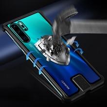 Gehärtetem Glas Fest Fall Für Huawei P30 Pro Fall Metall Rahmen Stoßfest Abdeckung Für Huawei Mate 20 Pro Ehre 20 pro Nova Pro