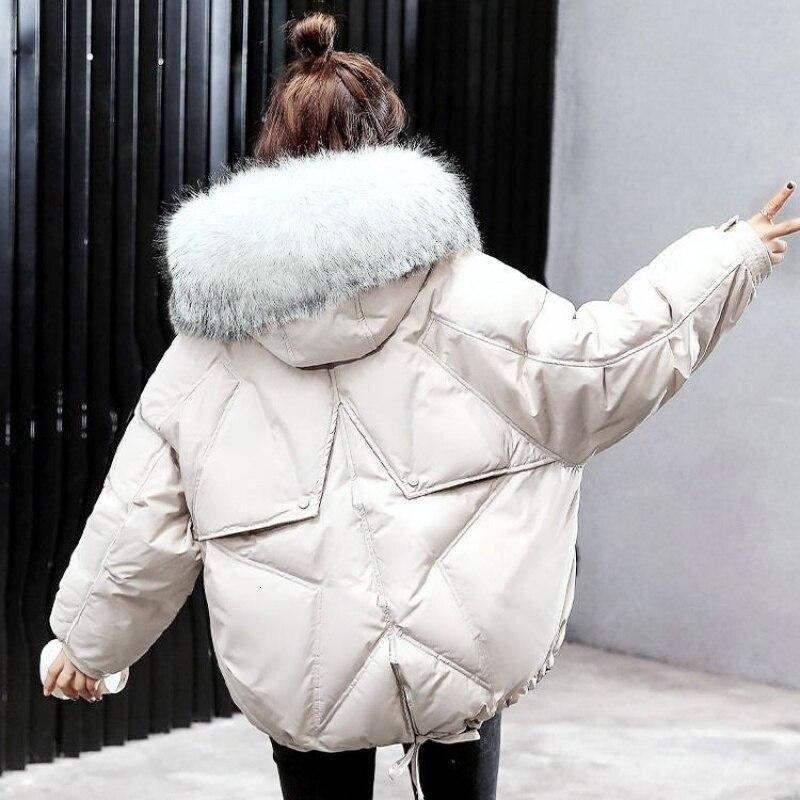 Зима 2019 оверсайз зимняя куртка пуховик для женщин верхняя одежда женские s парки меховая с капюшоном хлопковая стеганая женская теплая куртка