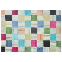 Handmade Multicolor Do Vintage Patchwork Tapete de Área Tapete 158x228 Cm-5 '2''X7'6''