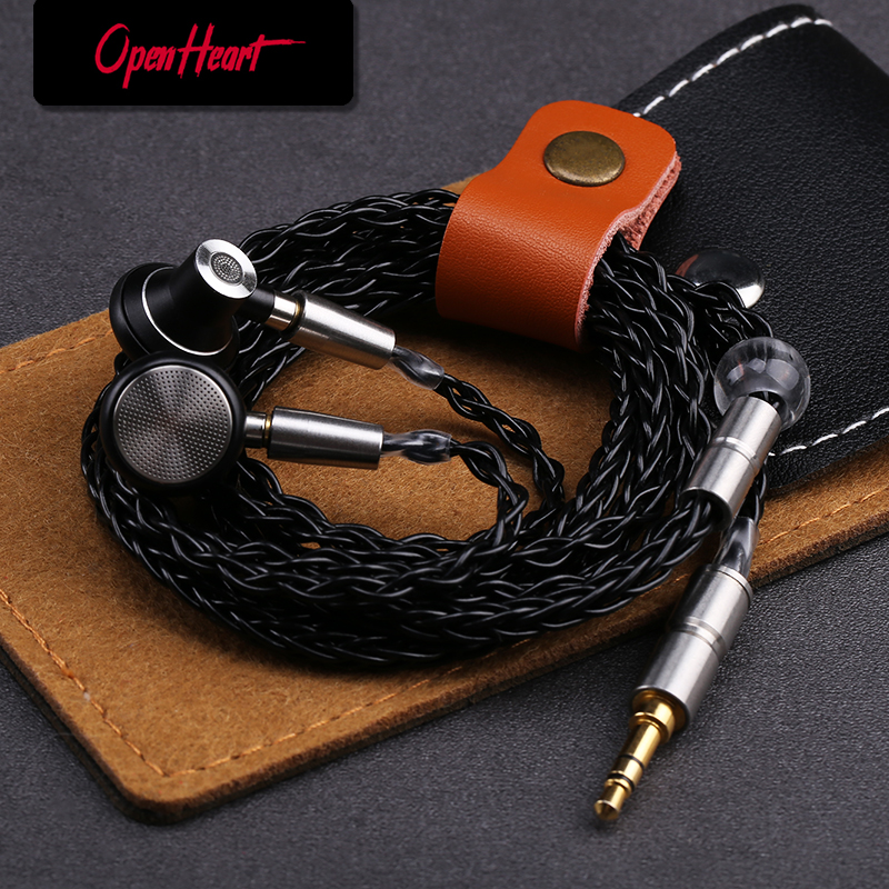 OPENHEART Metal headset with mmcx In-ear Earphones Flat Head Plug Earphone Wired HiFi Bass Earbuds music Earbuds Dynamic Driver