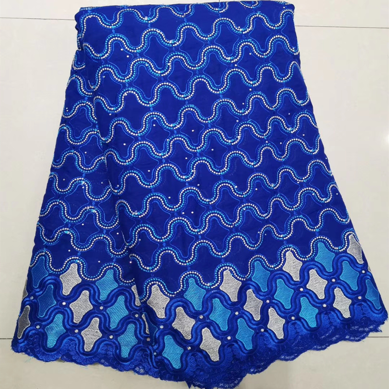 Latest Beaded African Lace Fabric 2019 High Quality France Nigerian Lace Fabric Materials For Women African Dresses