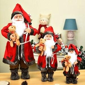 Рождественские украшения для дома большой Санта Клаус безликая кукла детский Рождественский Новогодний подарок Navidad Natal новогодний 2021