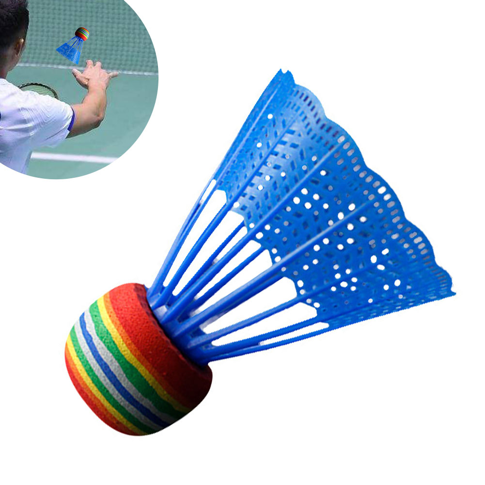 10pcs Game Sport Outdoor Reusable Practice Nylon Ball Portable Entertainment Rainbow Head Indoor Badminton Durable Gym Training