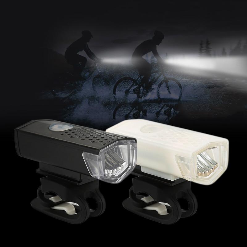 1Pcs Bike Light SB Rechargeable 300 Lumens 3 Modes Bicycle Lamp Light Front Headlight Bike Bicycle LED Flashlight Lantern