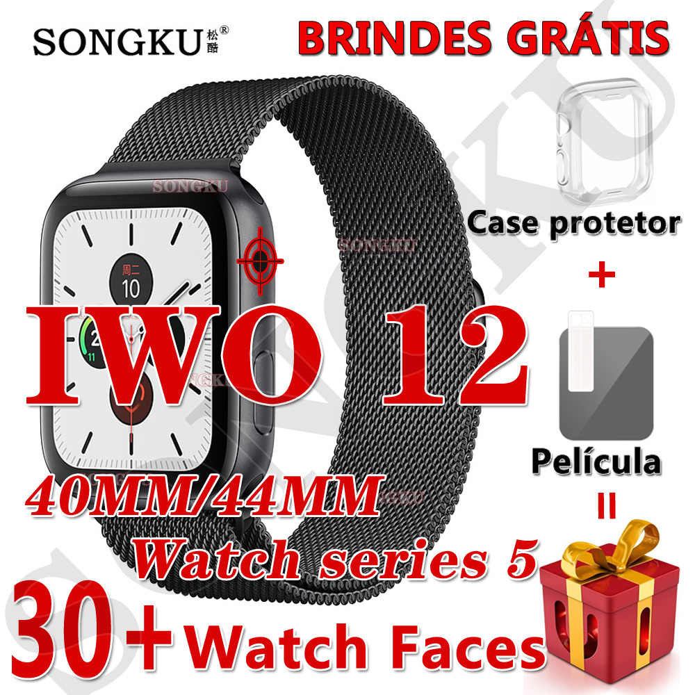 SONGKU IWO 12 montre série 5 1:1 montre intelligente 40MM 44MM Bluetooth montre iwo12 pour apple iPhone IOS Android contrôle Siri PK IWO 11