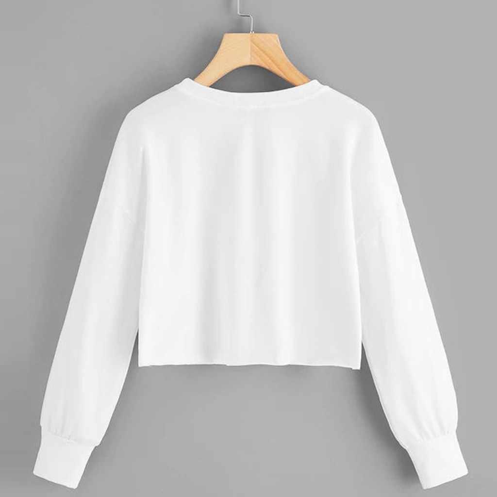 トレーナー 2019 秋のファッション女性カジュアル O ネック猫プリント長袖ブラウス Sweatershirt トップス sudadera mujer