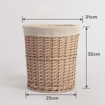 Large Baskets With Lids   Large Wicker Weave Storage Basket  With Lid Dirty Clothes Toy Basket Laundry Basket Hand-knitted Art