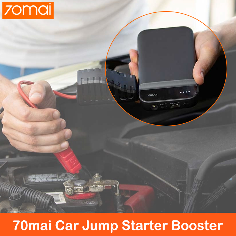 70mai Jump Starter 12V 11100mAh 70 Mai Car Jump Starter Battery Power Bank With Bag Car Starter Auto Buster Emergency Booster