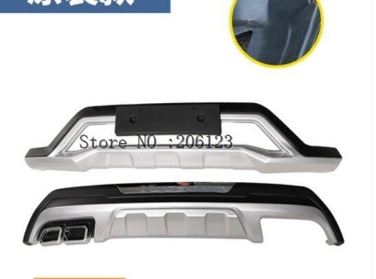 Car styling2015-2018 For Hyundai Tucson ABS front rear Bumper Protector Skid Plate coverRear Bumper Guard Protector Skid Plate