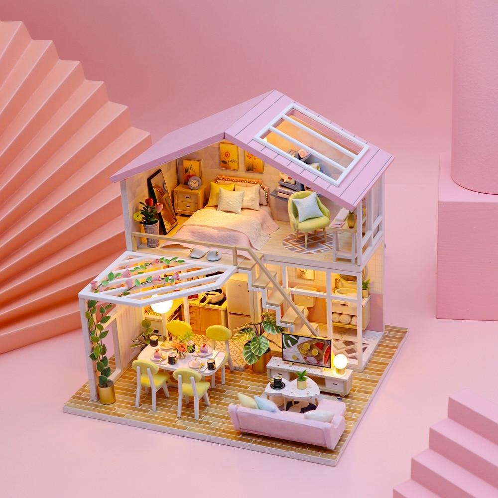 Peaceful Minimal DIY 3D Miniature House Kit