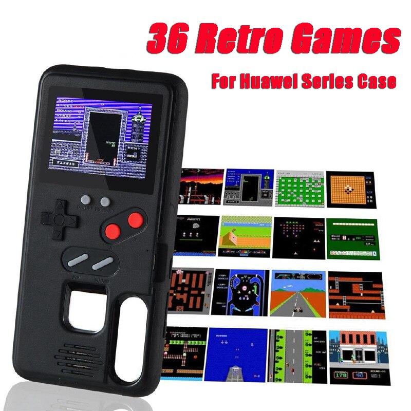 Gameboy Case Voor Huawei P40 P30 P20 Pro Lite Mate 20 30 Pro Nova5 Honor 9X Kleur Scherm Klassieke Spel tetris Console Case Cover